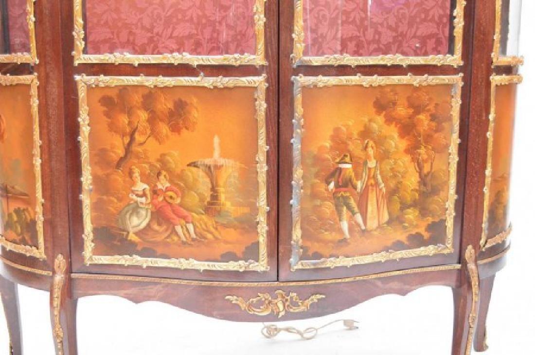 French style Verni Martin vitrine, bowed glass doors - 3