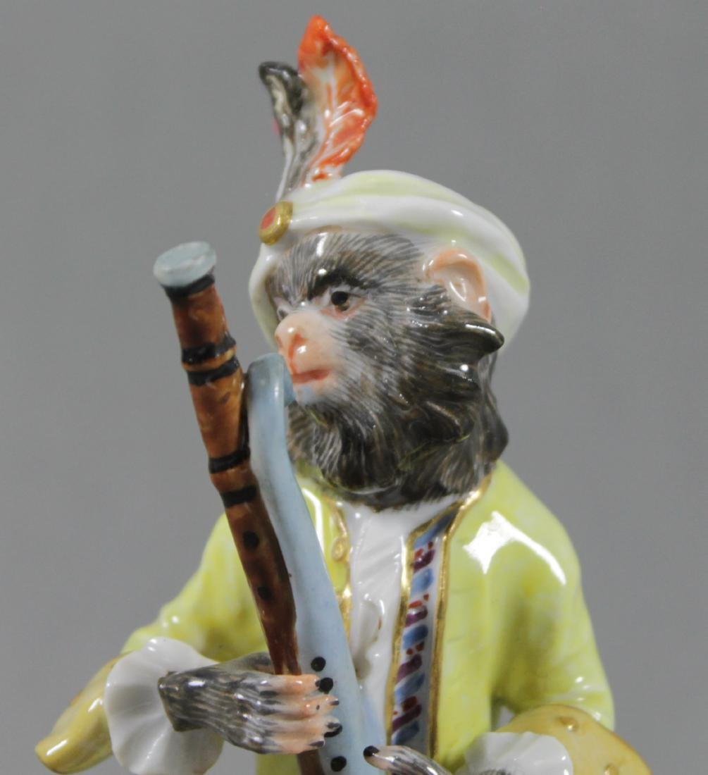 19TH C. MEISSEN MONKEY BAND FIGURE OF BASSOON PLAYER - 2