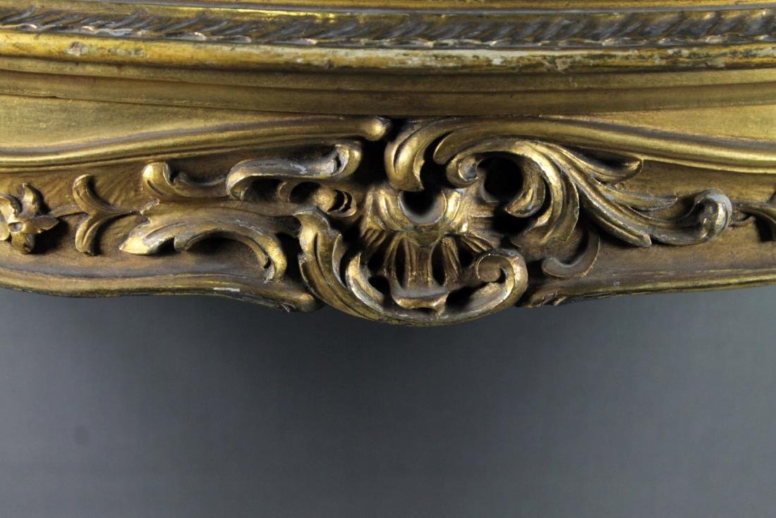FRENCH STYLE GILT MARBLE TOP CONSOLE - 2