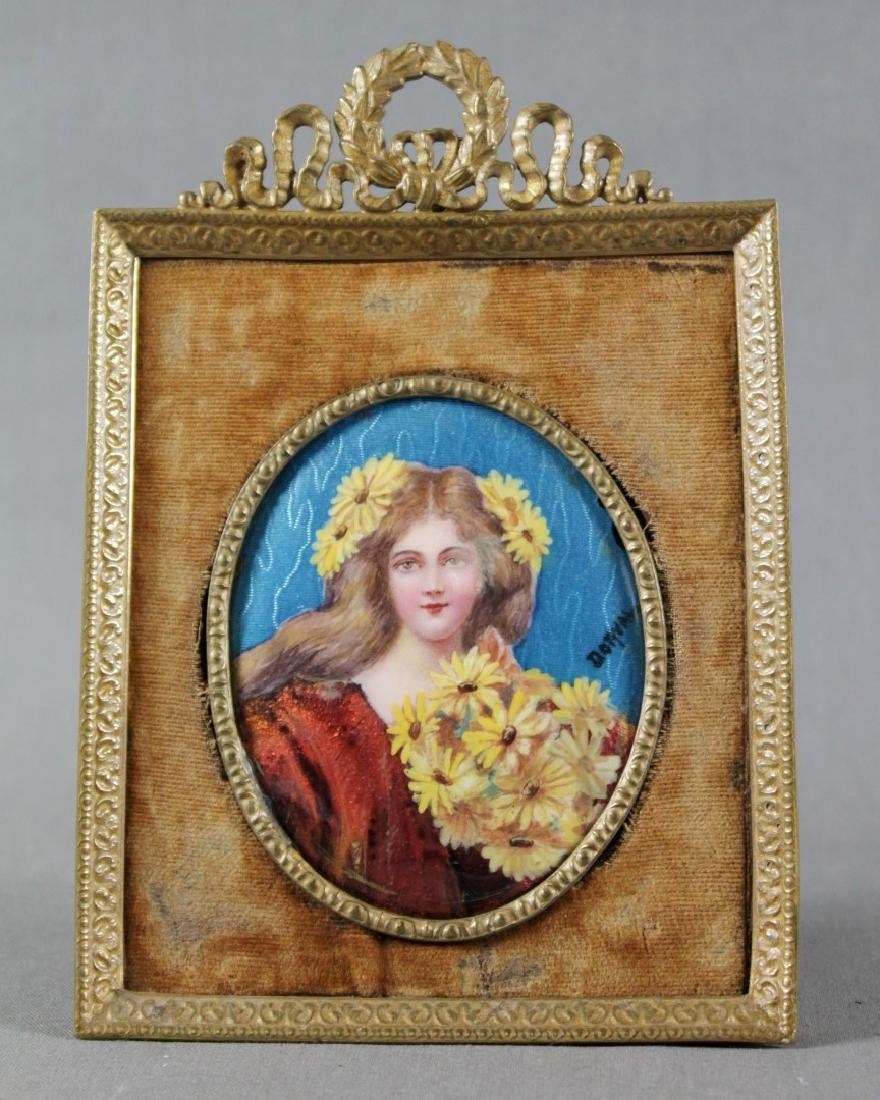 FRAMED ENAMEL PLAQUE