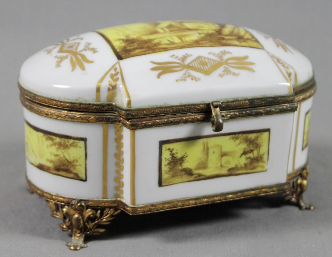 SEVRES HINGED JEWELRY BOX