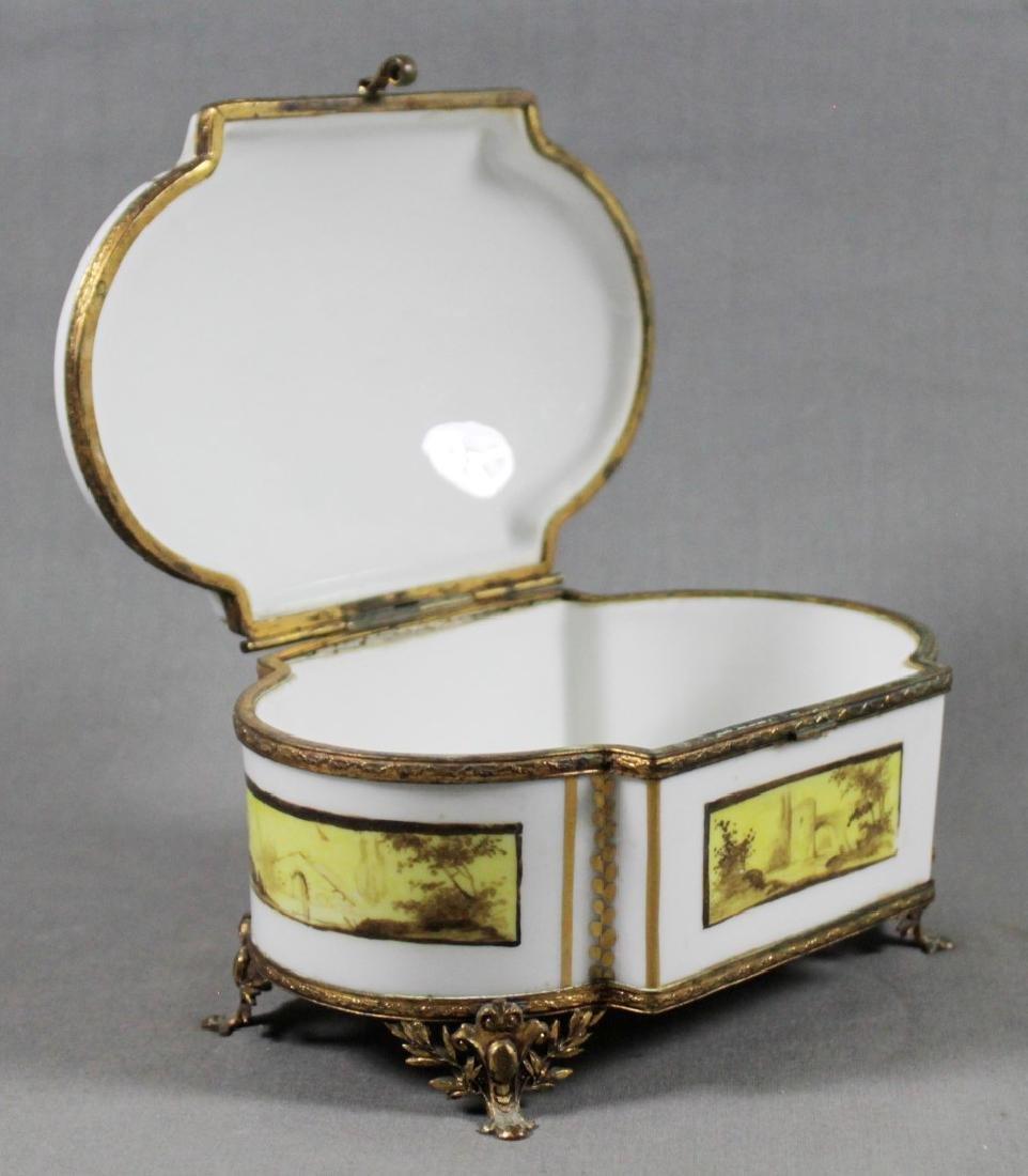 SEVRES HINGED JEWELRY BOX - 2