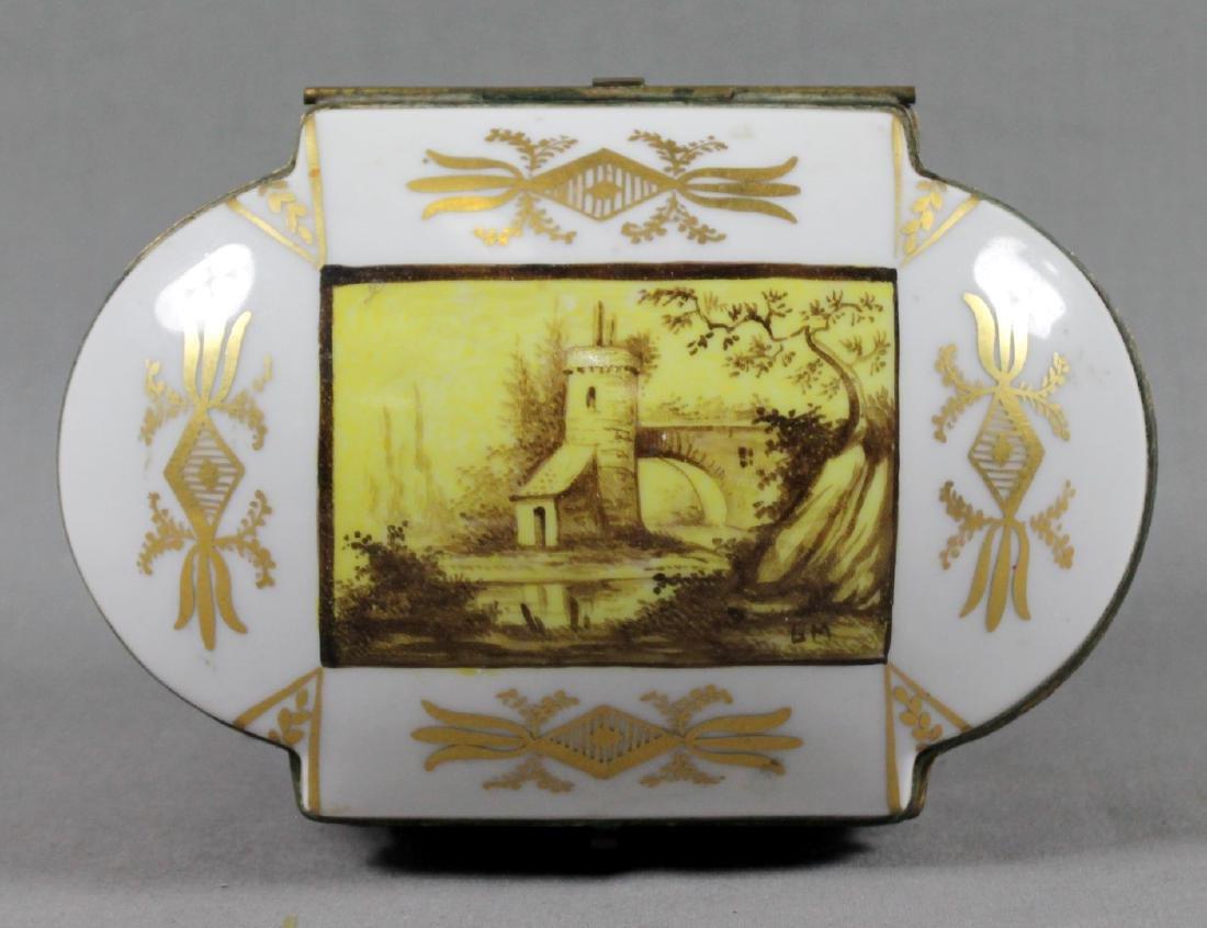 SEVRES HINGED JEWELRY BOX - 3