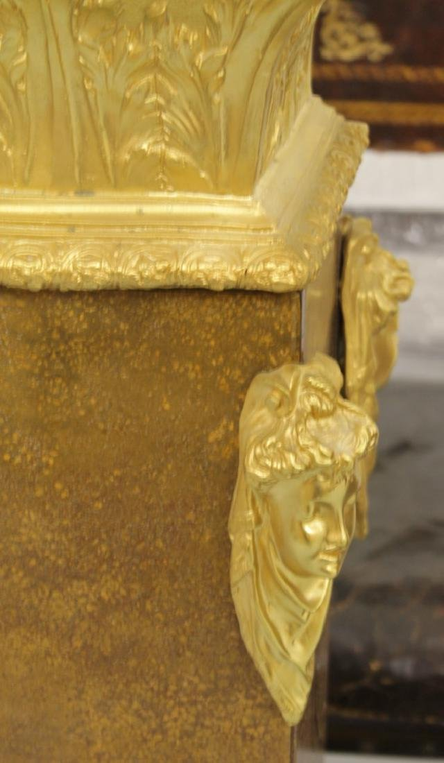 PAIR OF GILT BRONZE AND ROUGE MARBLE PEDESTALS - 4