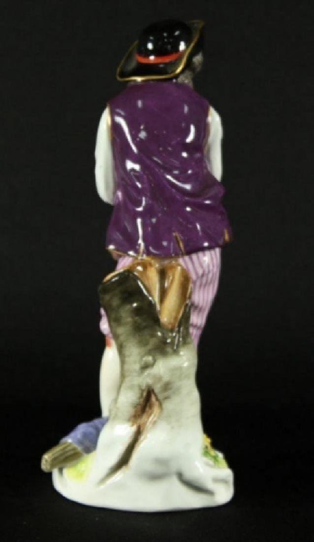 "7.5"" MEISSEN FIGURE OF MAN WITH ARMS SHRUGGED - 2"