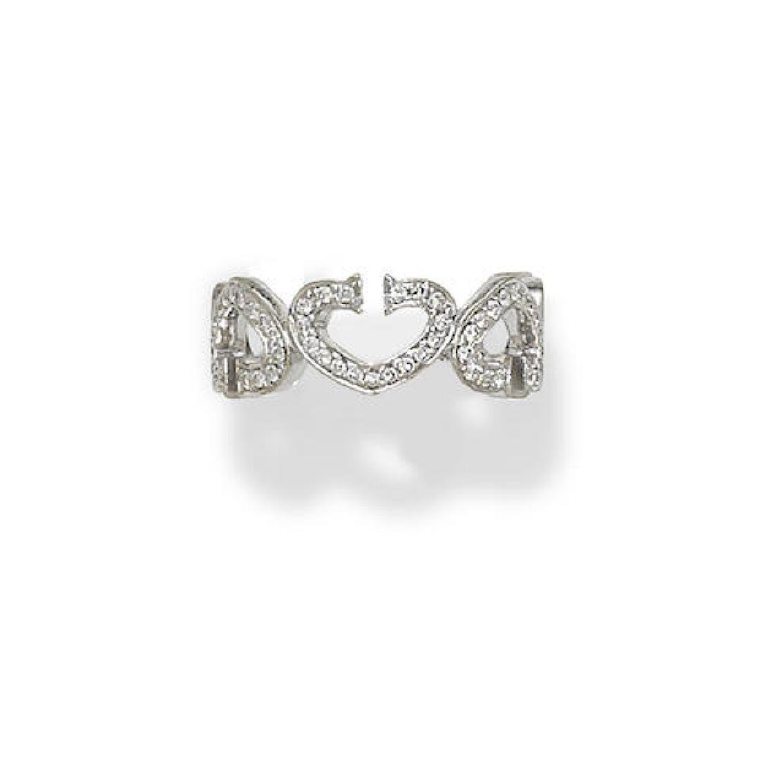 A DIAMOND AND 18K WHITE GOLD 'DOUBLE C' BAND, Cartier