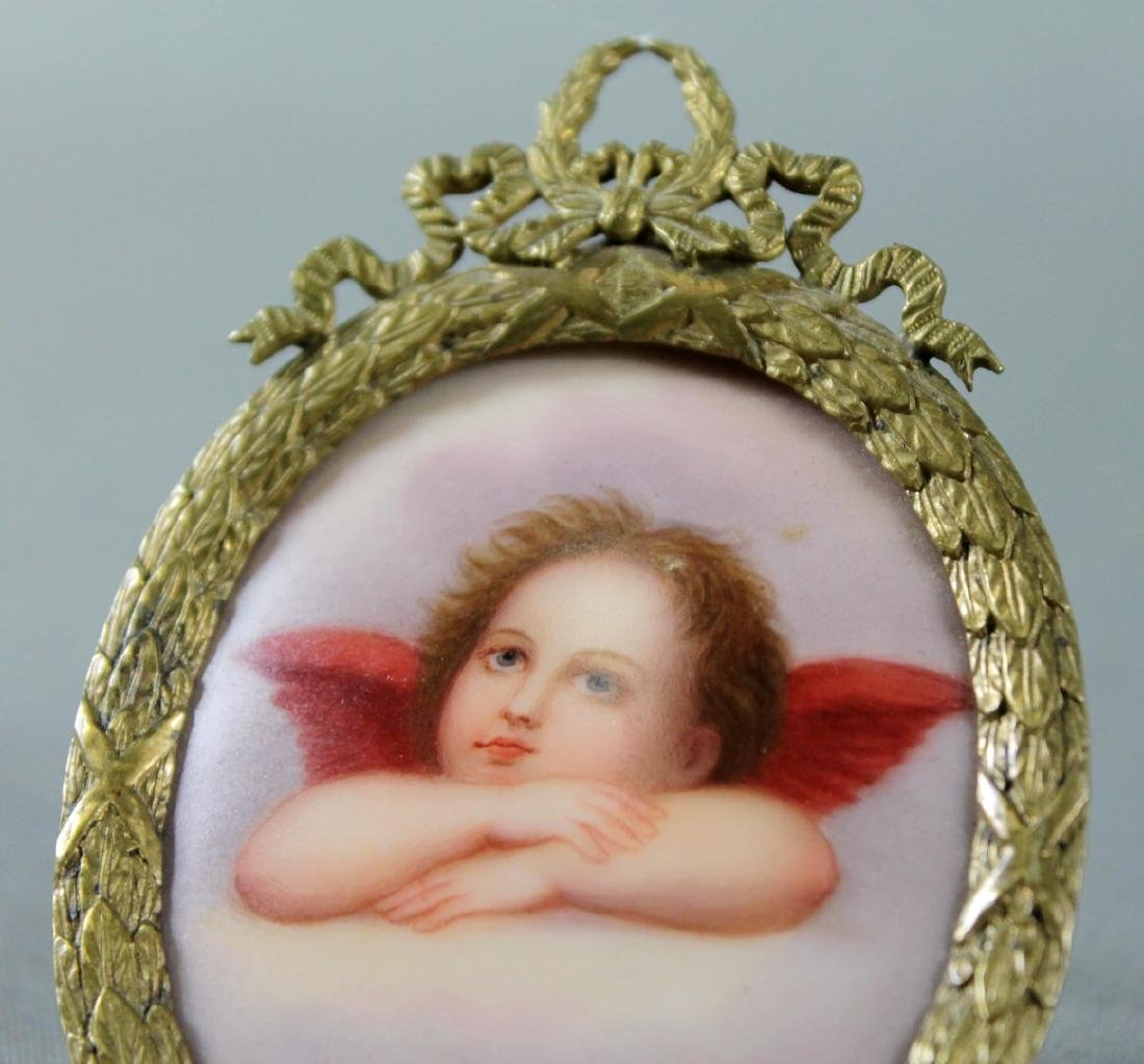 ENAMEL PLAQUE ON STAND - 2