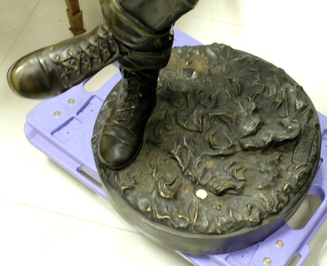 LARGE PATINATED BRONZE FIGURE OF A BASEBALL PLAYER - 4