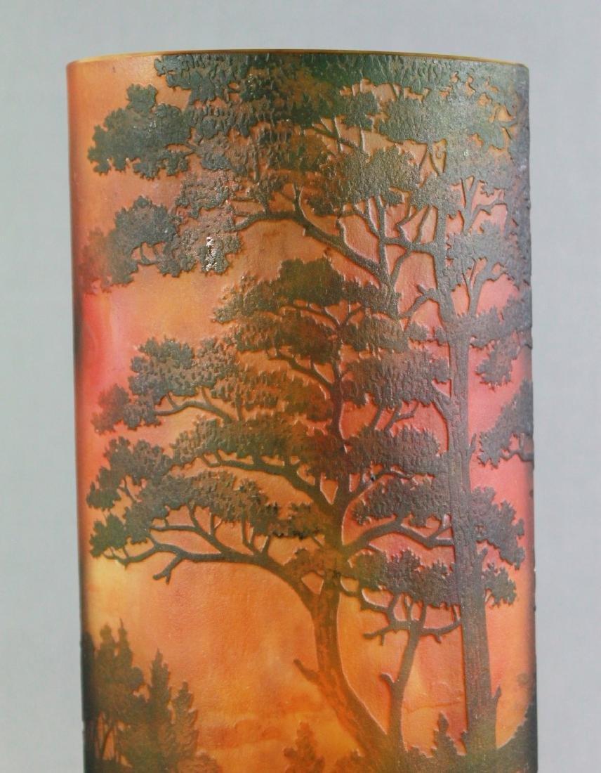 Large Daum Nancy Art Glass Tree Vase - 2