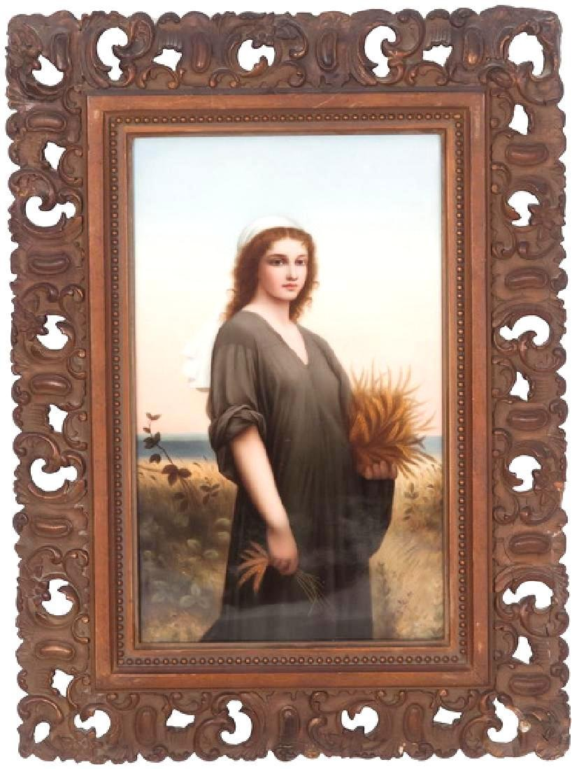 K.P.M (ROYAL BERLIN) PORCELAIN PLAQUE OF RUTH