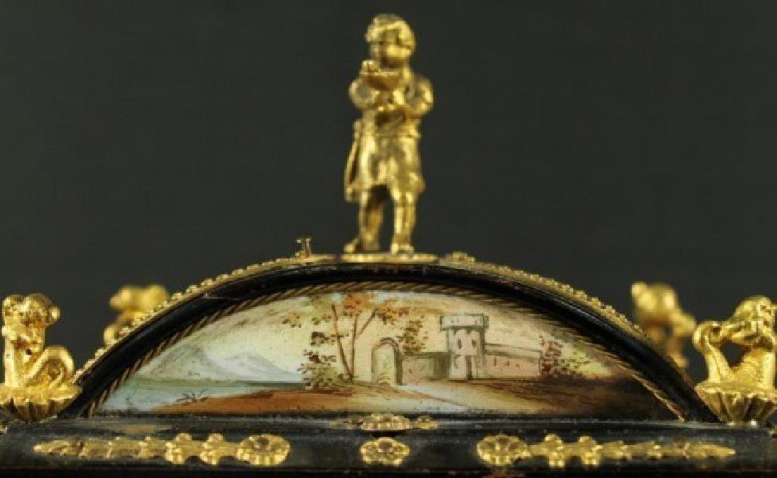 19TH C. VIENNESE ENAMEL JEWELERY BOX - 3