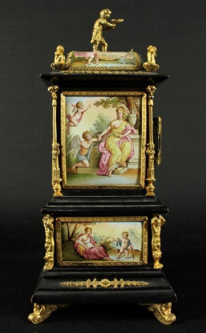 19TH C. VIENNESE ENAMEL JEWELERY BOX - 5