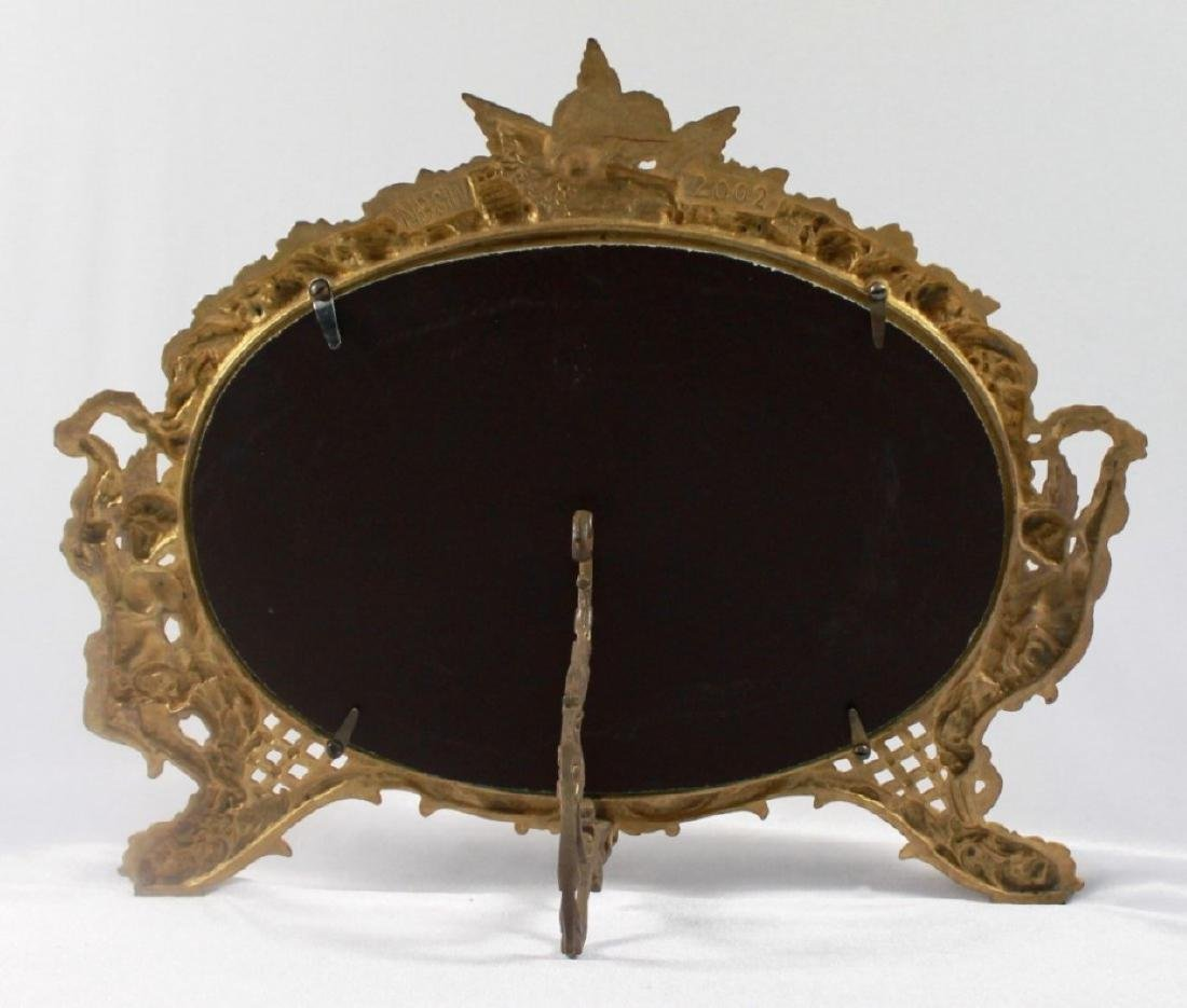 C 1880 ANTIQUE SIGNED AMERICAN ART MIRROR - 8