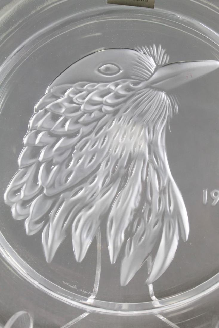 LALIQUE PLATE OF EAGLE - 2