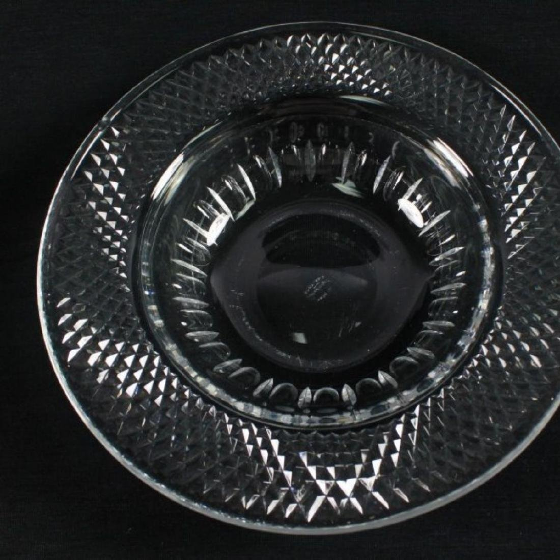 """CROSSHATCH AND PUNTE MOTIF CUT GLASS MARKED"""" MADE IN - 6"""