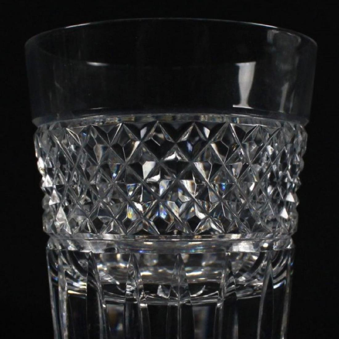 """CROSSHATCH AND PUNTE MOTIF CUT GLASS MARKED"""" MADE IN - 8"""