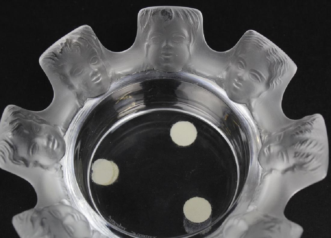 Set 4 Lalique Fine French Crystal St. Nicholas Ashtrays - 2