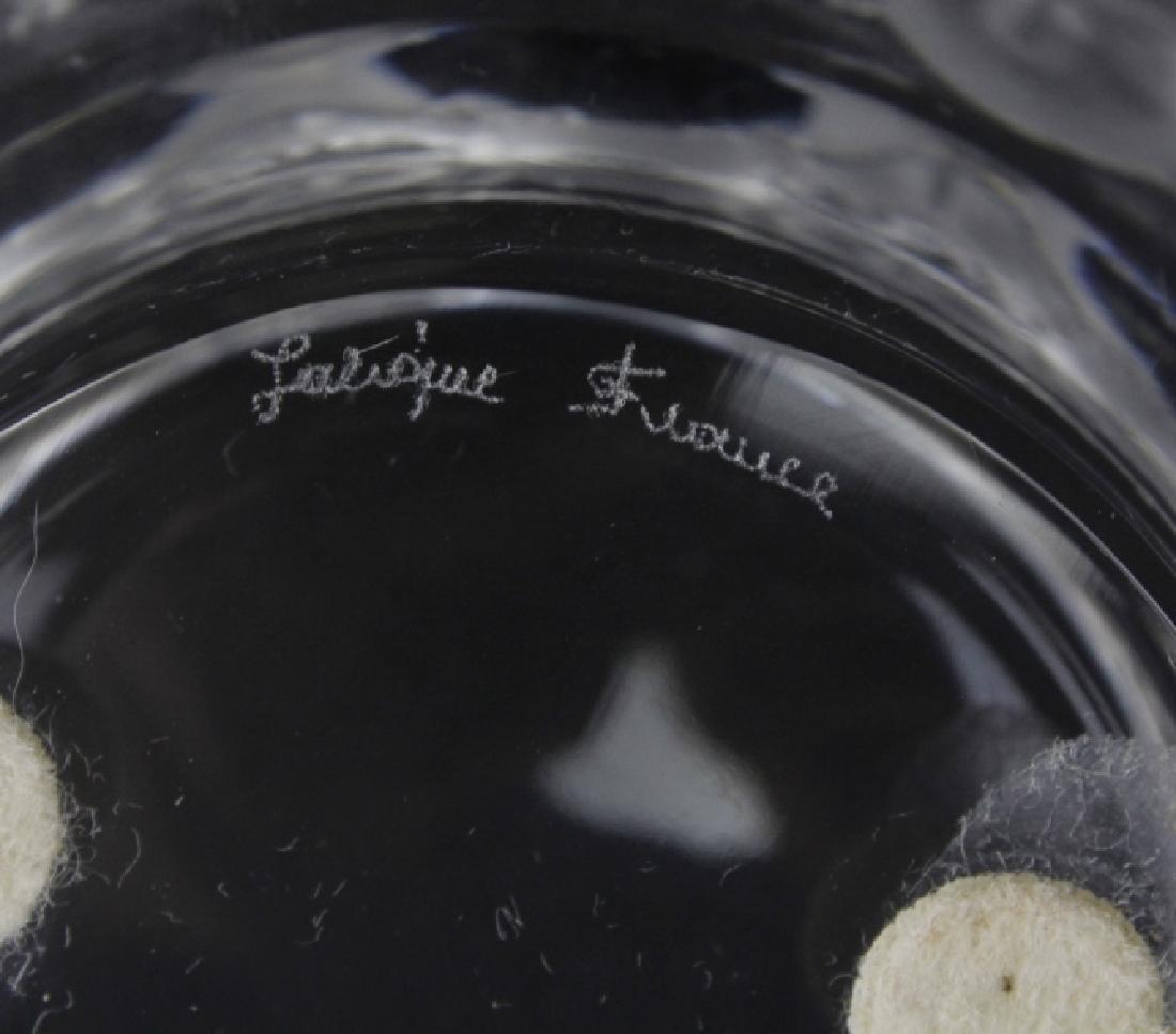 Set 4 Lalique Fine French Crystal St. Nicholas Ashtrays - 5