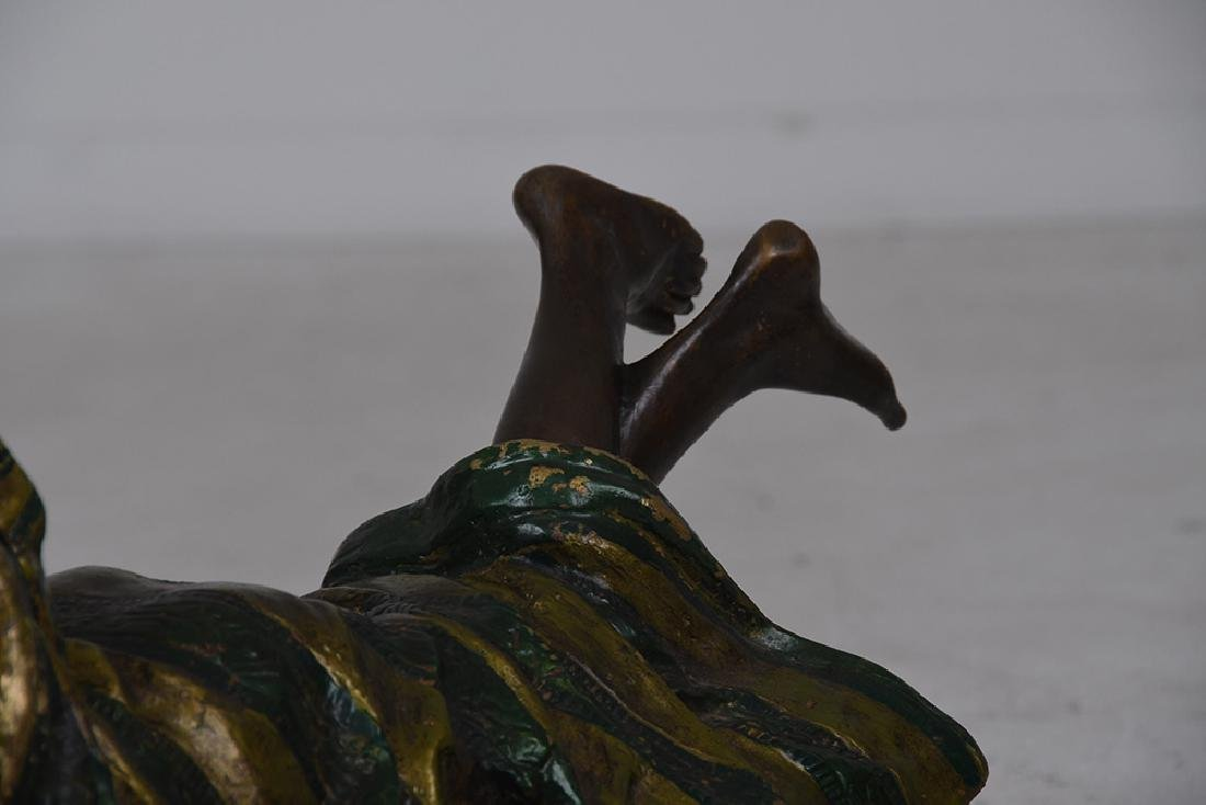 AUSTRIAN STYLE POLYCHROME BRONZE OF A WOMAN - 3