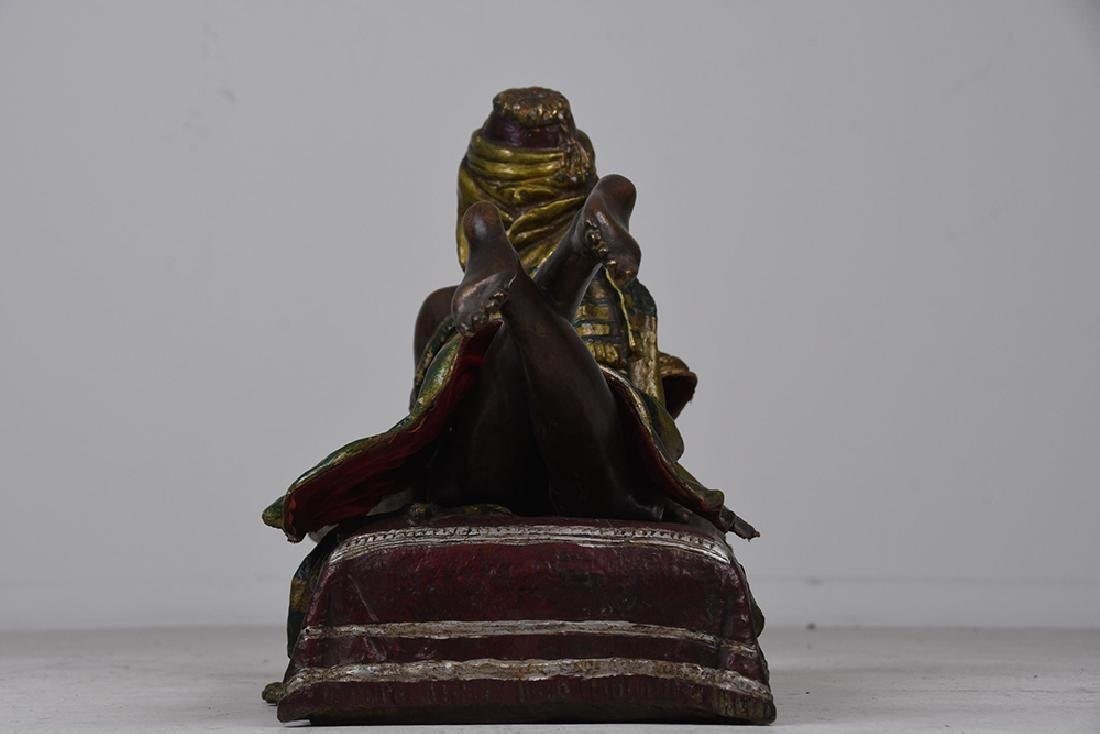 AUSTRIAN STYLE POLYCHROME BRONZE OF A WOMAN - 6
