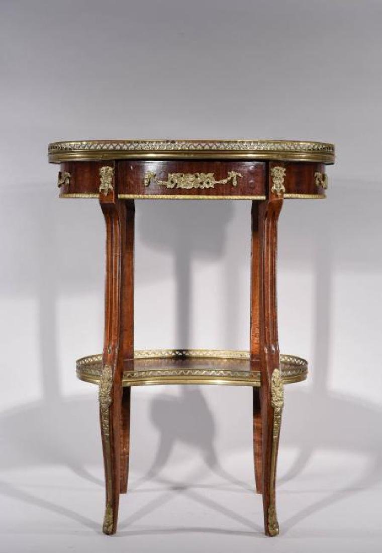 FRENCH TABLE WITH INLAY AND ORMOLU