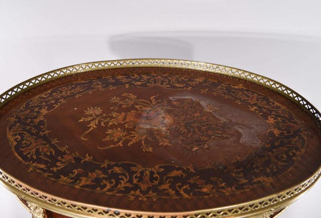 FRENCH TABLE WITH INLAY AND ORMOLU - 7
