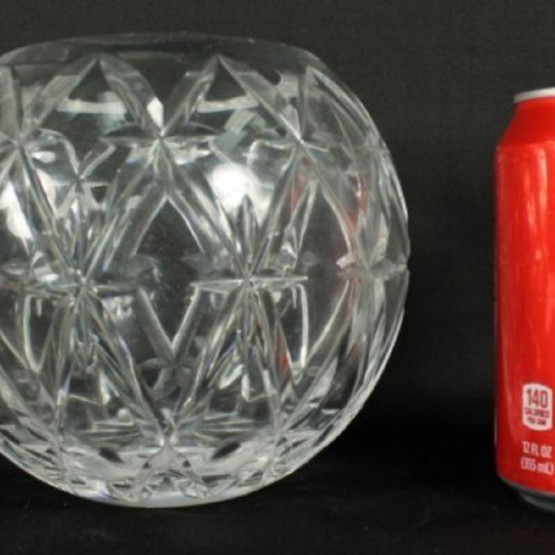 TIFFANY CUT GLASS ROUND VASE - 2