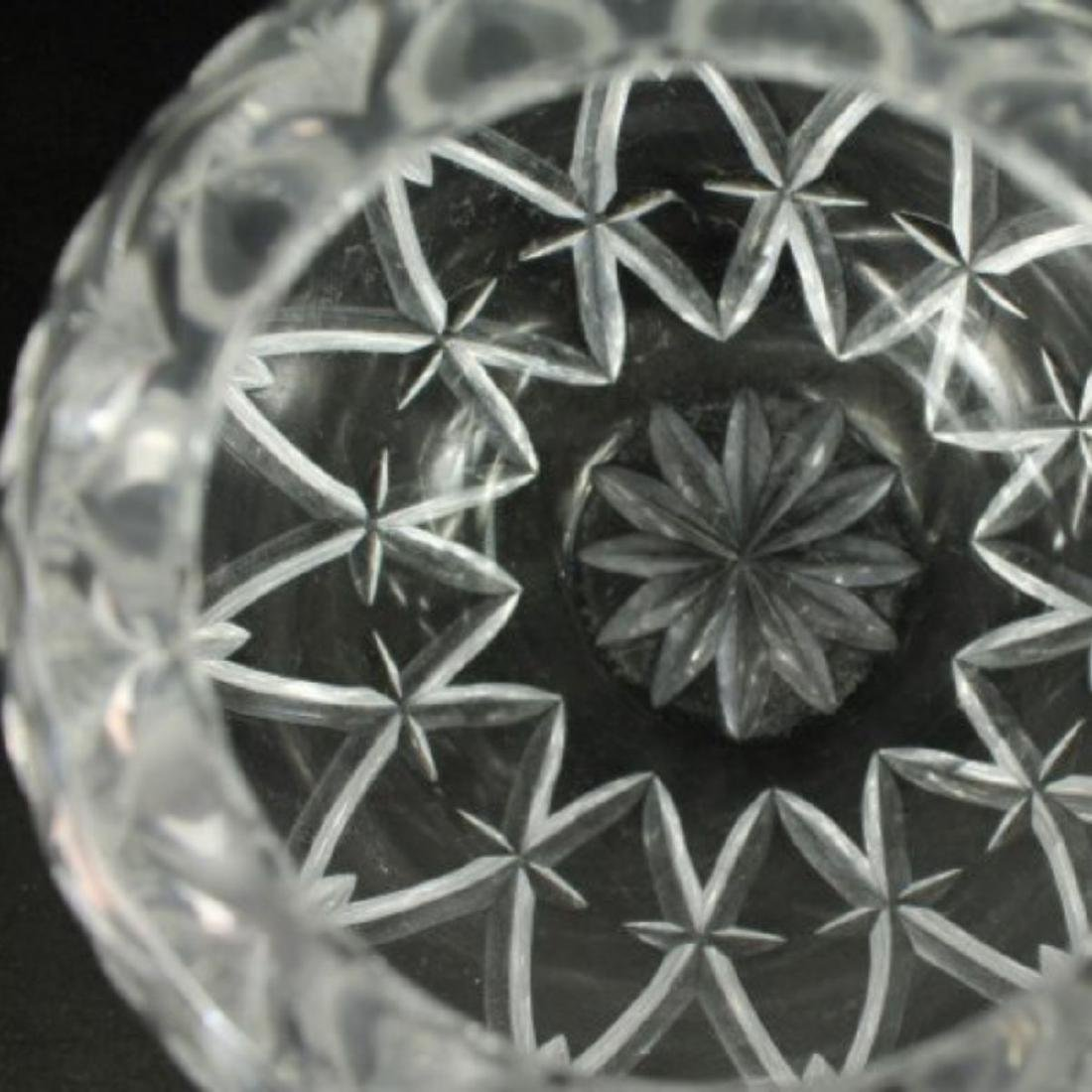 TIFFANY CUT GLASS ROUND VASE - 3