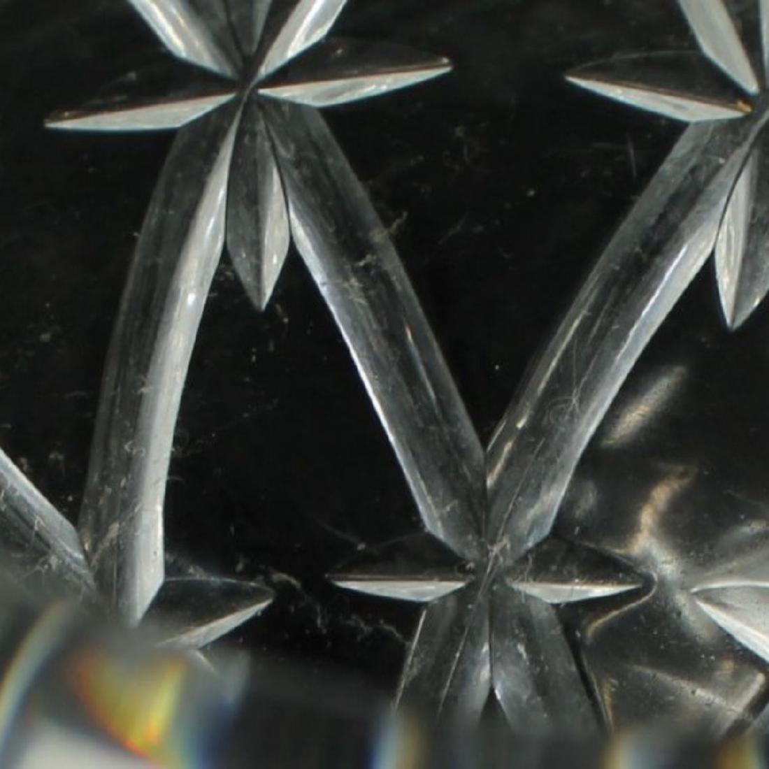 TIFFANY CUT GLASS ROUND VASE - 4