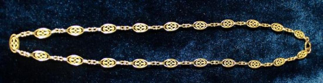 12 KT GOLD FILLED CHAIN, A SERIES OF OVALS