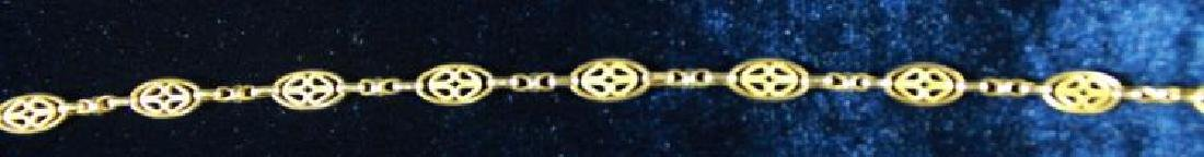 12 KT GOLD FILLED CHAIN, A SERIES OF OVALS - 3