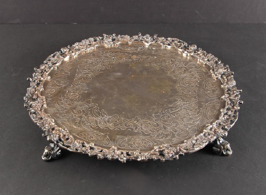 Romantic Silverplate Plateau Serving Tray