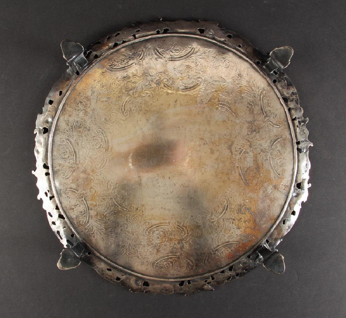 Romantic Silverplate Plateau Serving Tray - 5