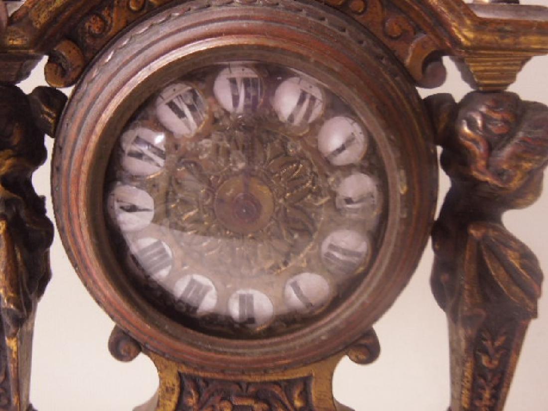 19th c. Continental Bronze Desk Clock - 3