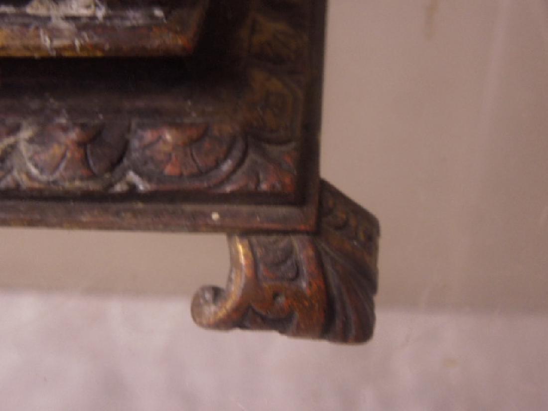 19th c. Continental Bronze Desk Clock - 4