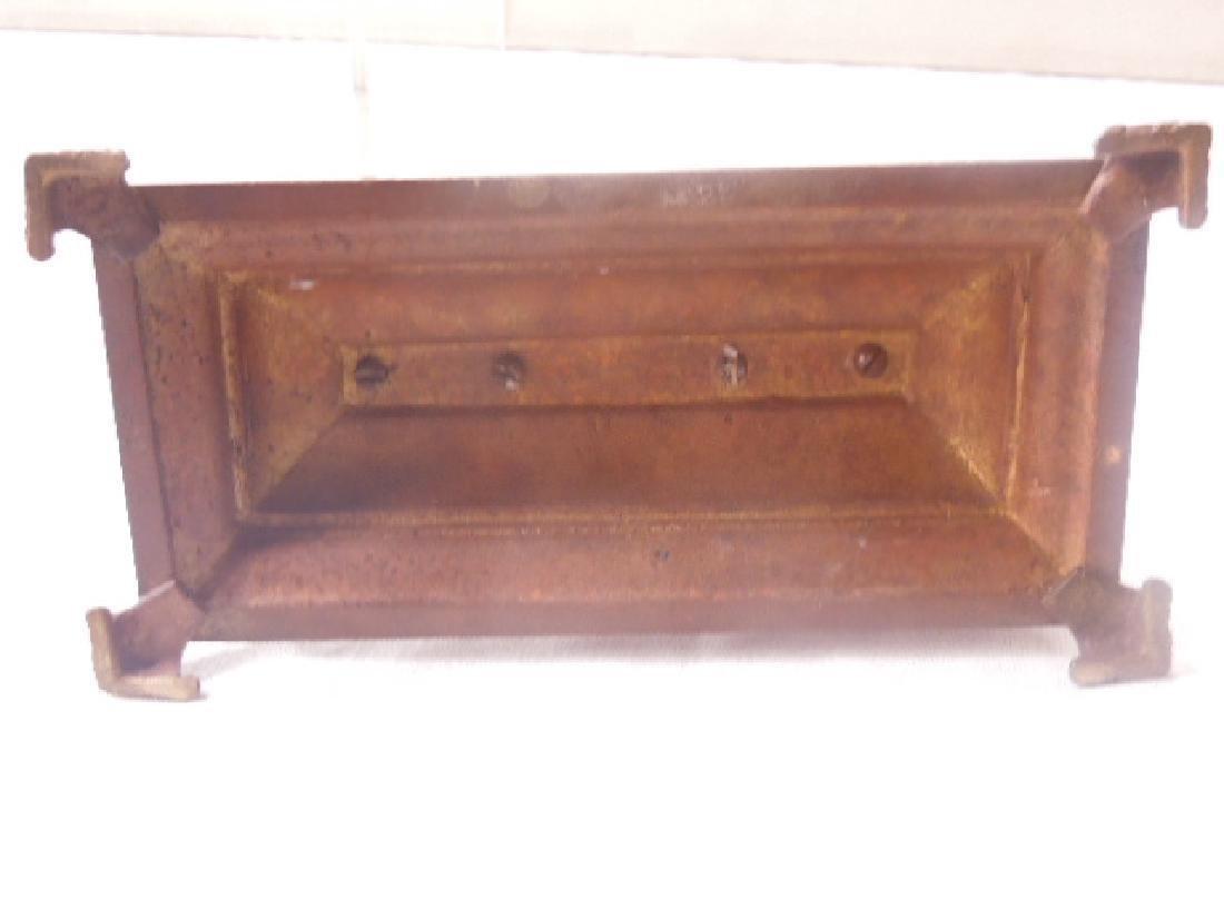 19th c. Continental Bronze Desk Clock - 8