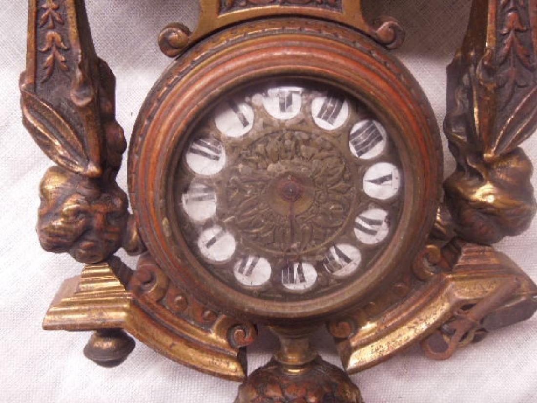 19th c. Continental Bronze Desk Clock - 9