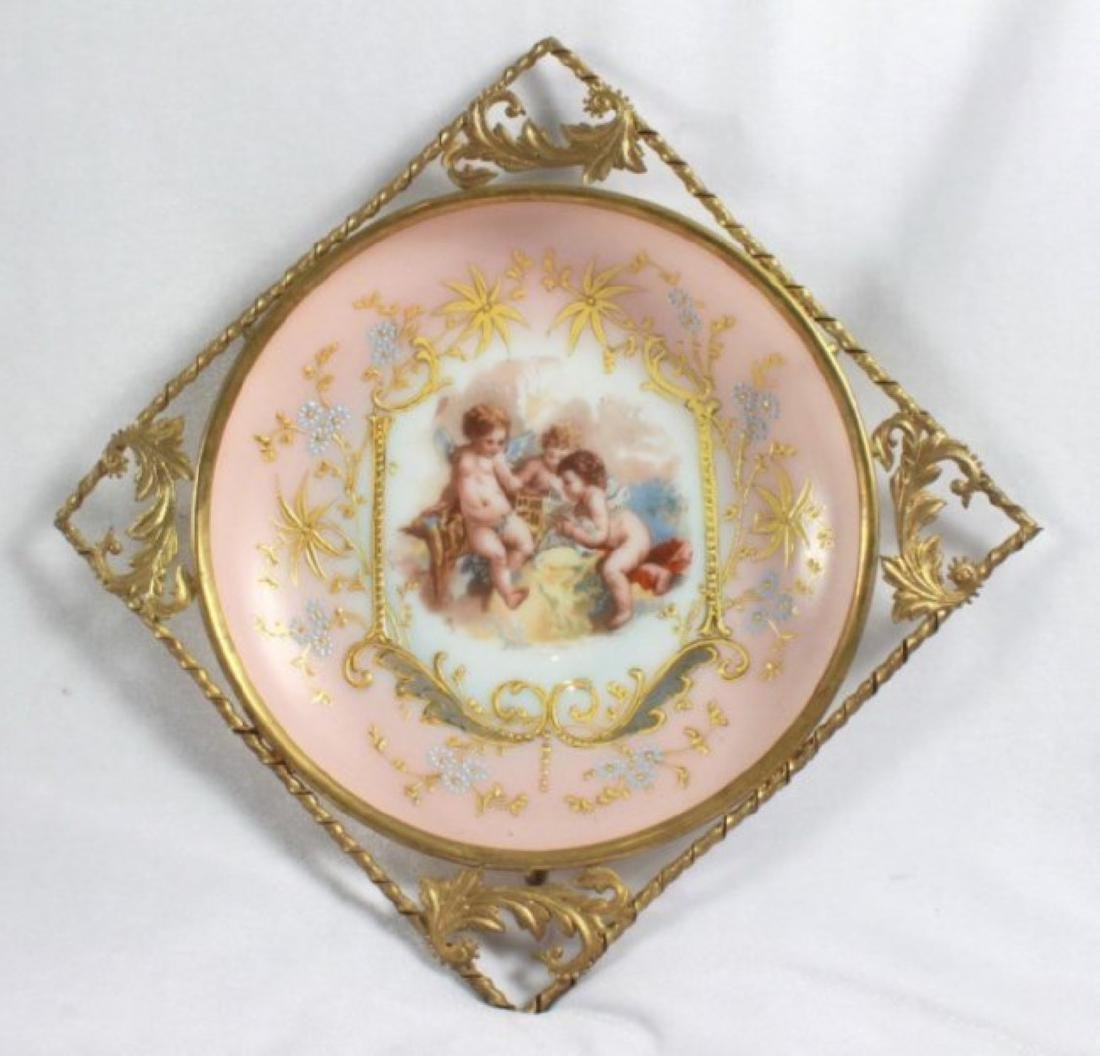 19TH C. VICTORIAN ENAMELED PORCELAIN WALL HANGINGS - 7
