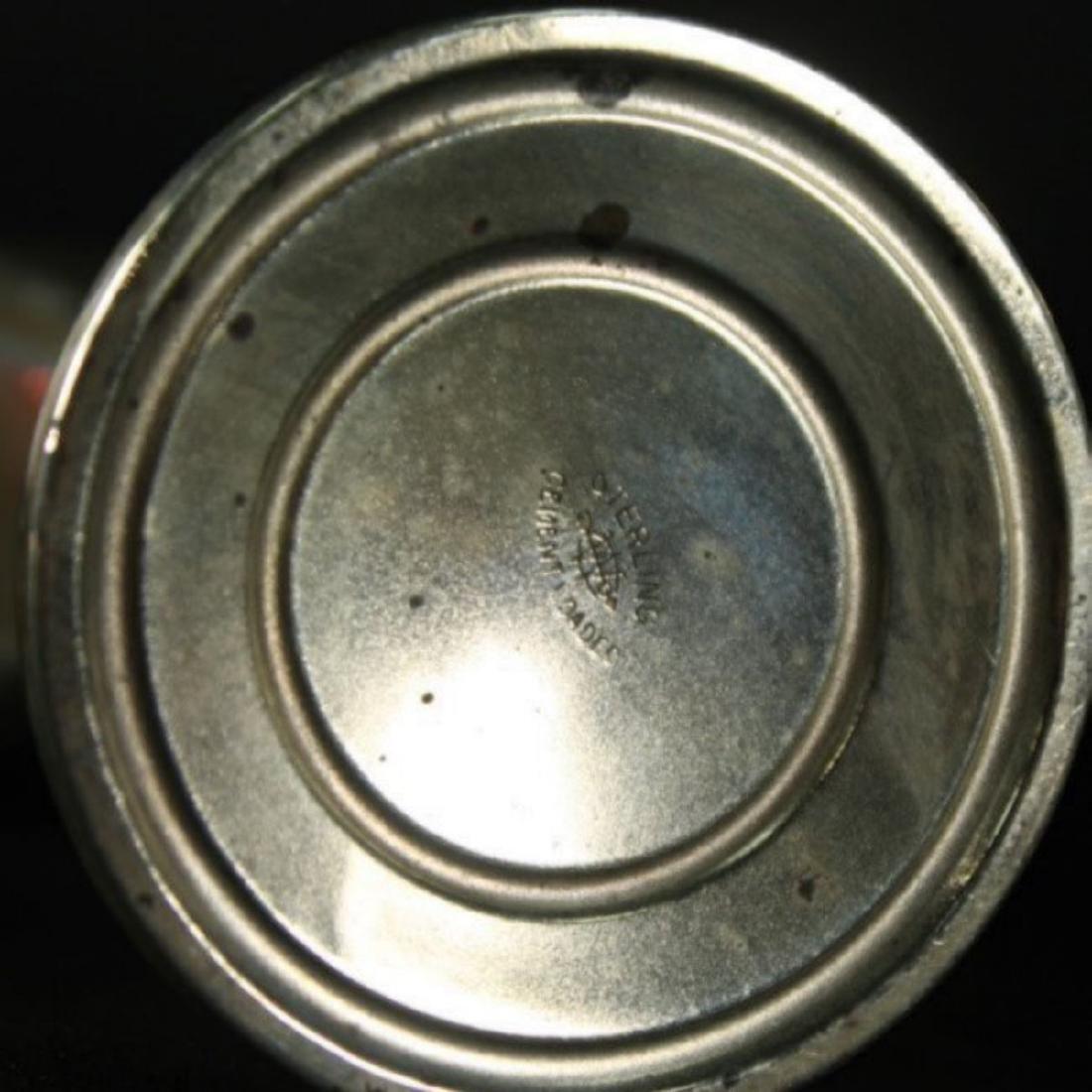 SET OF 4 STERLING SALT SHAKERS - 3