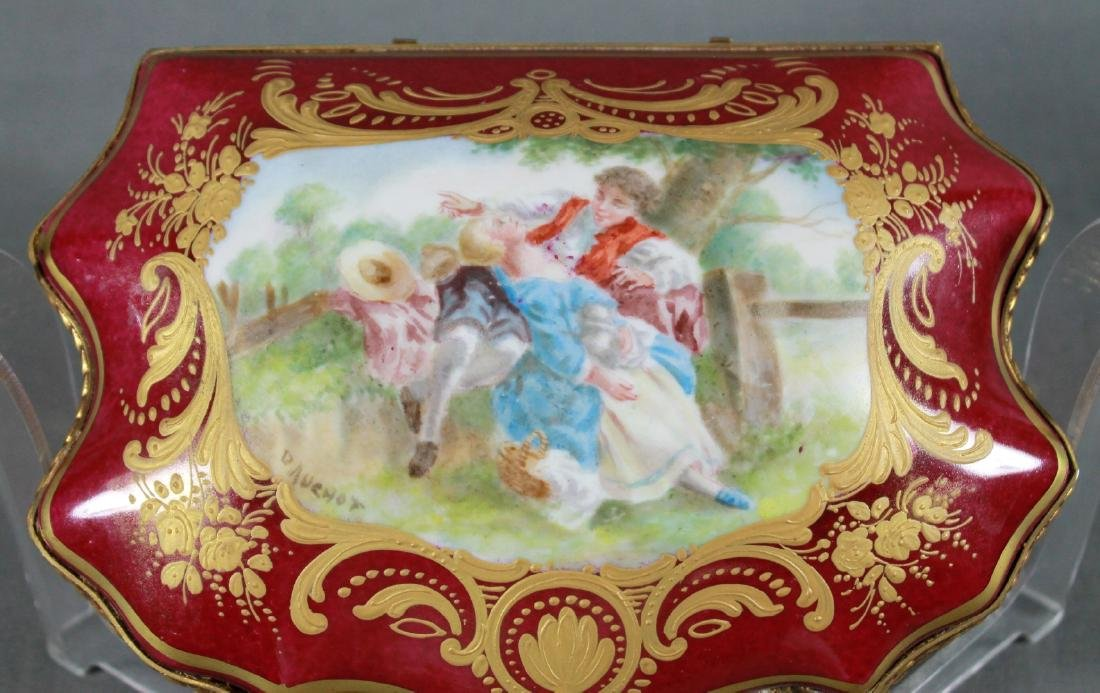 A Sevres Style Porcelain and Gilt Metal Mounted Box - 3