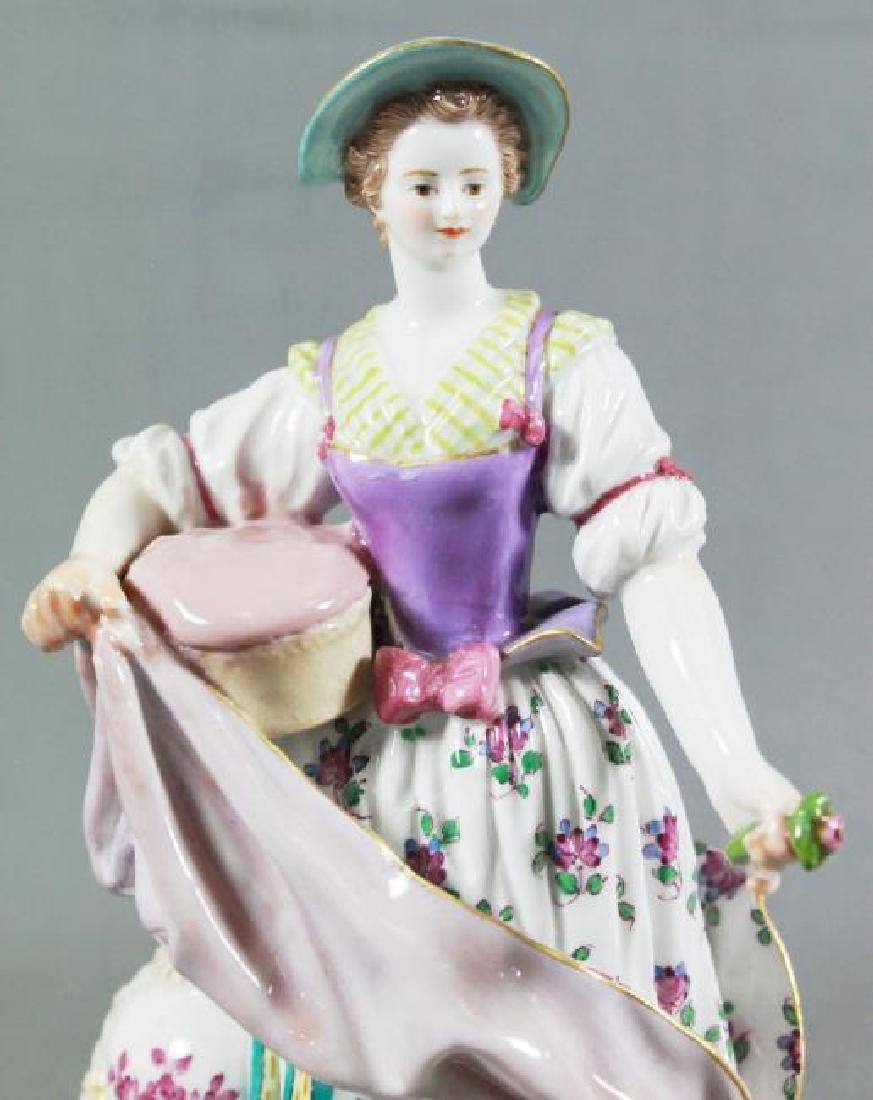MEISSEN FIGURE OF WOMAN WITH PILLOW - 2