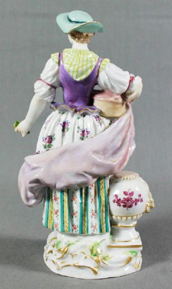 MEISSEN FIGURE OF WOMAN WITH PILLOW - 3