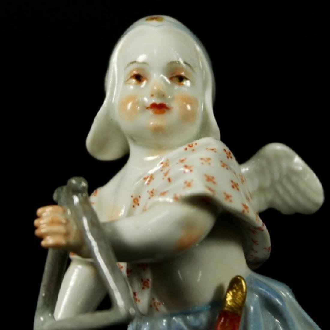 MEISSEN FIGURE OF MAN WITH TRIANGLE - 2