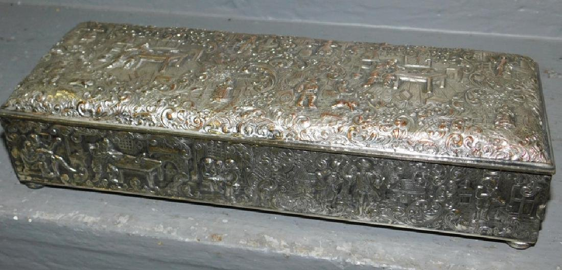 International Silver plated embossed box