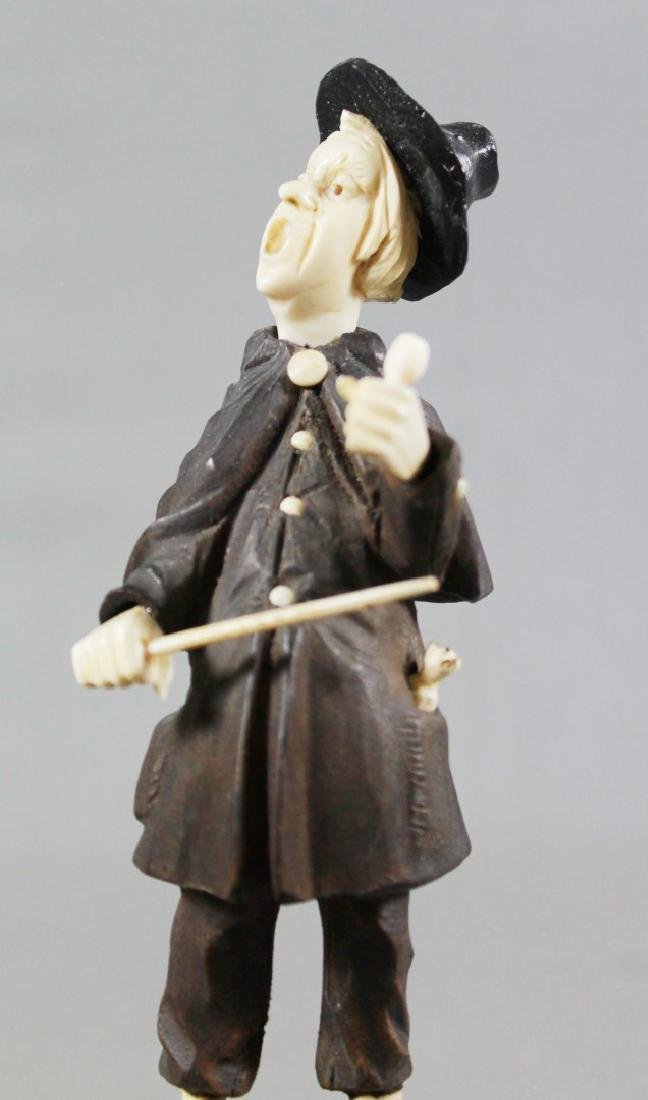 Late 19th C. German Carved Wood and Composite Figure - 2
