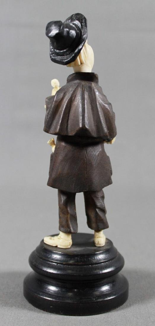 Late 19th C. German Carved Wood and Composite Figure - 3