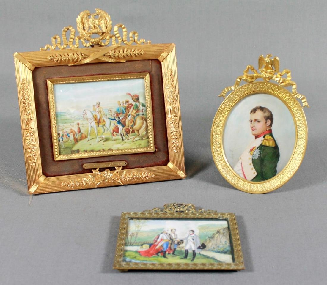 THREE PORTRAIT MINIATURES OF NAPOLEON FIRST QUARTER