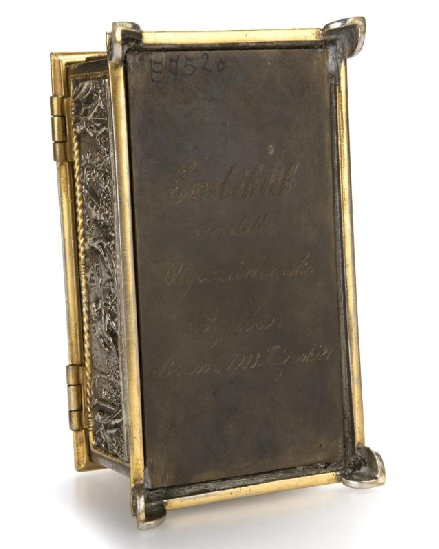 Two Continental bronze jewelry caskets - 2