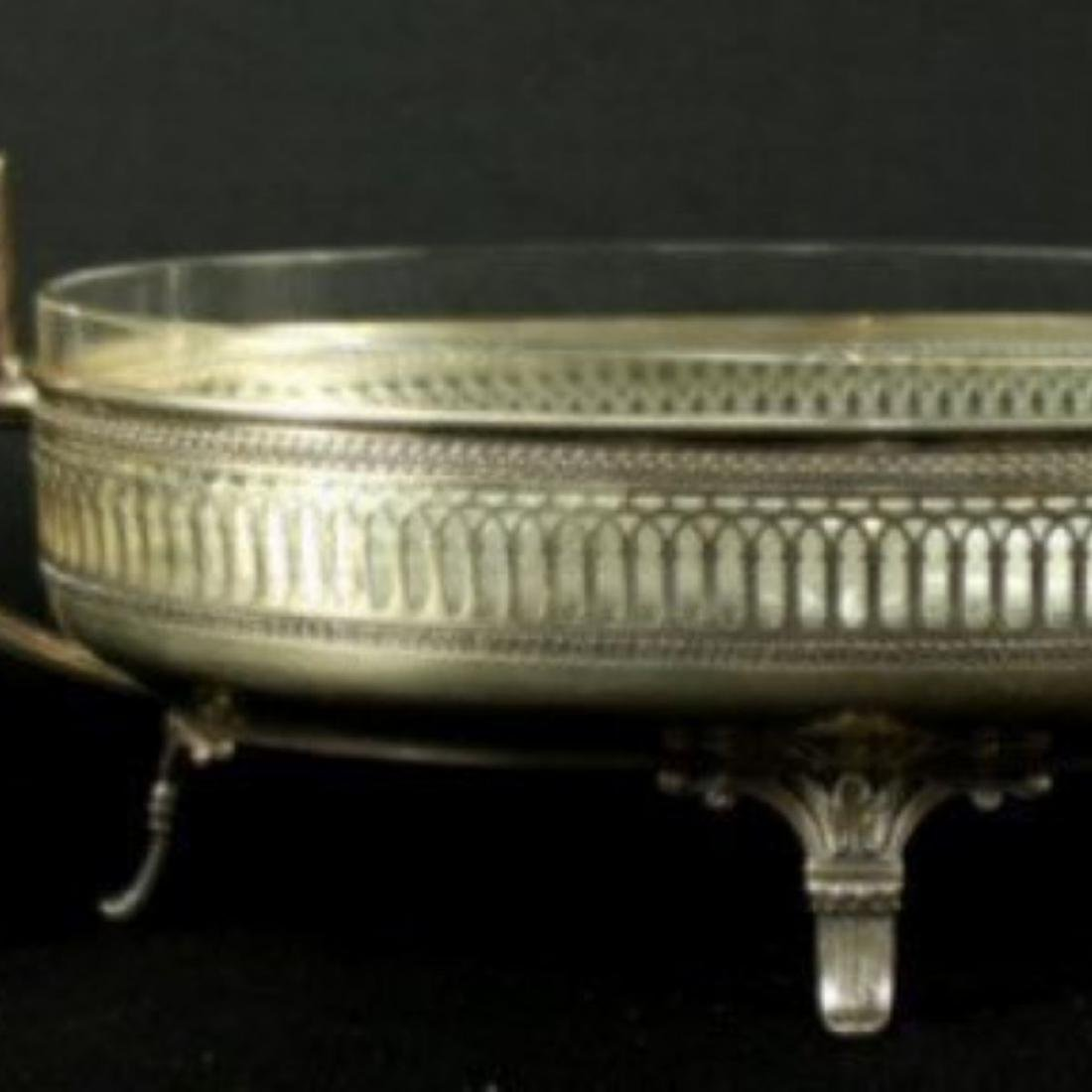 Early 20th c. German 800 silver center piece