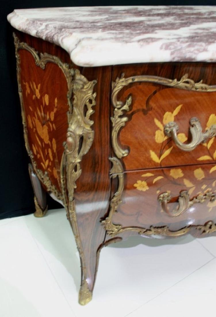 LOUIS XV STYLE GILT-BRONZE MOUNTED COMMODE - 8